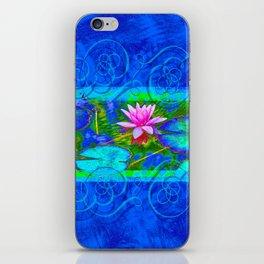 Lotus Blossom Blues iPhone Skin