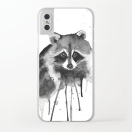 raccoon Clear iPhone Case