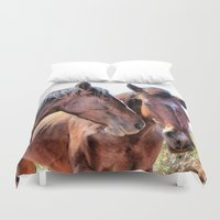 horses Duvet Covers featuring Horses   by Judith Altman