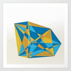 a new geometry Art Print