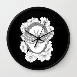 blind by beauty Wall Clock