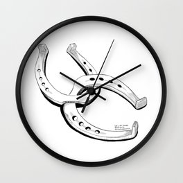 """""""Shoes"""" 2020 Inktober Day 29 [Line Art] Wall Clock"""