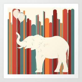 Elephants Play Art Print