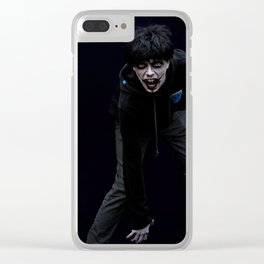 Jeff The Killer Cosplay Portrait Clear iPhone Case