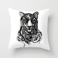 Tiger - Original Drawing  Throw Pillow
