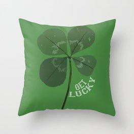 Get Lucky Throw Pillow