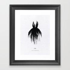 Little Black Gown Framed Art Print