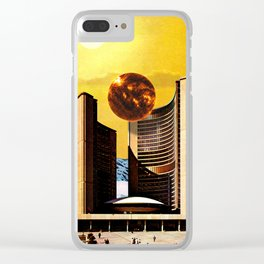 Summer Town Clear iPhone Case