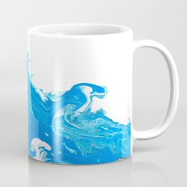 Point Break -   Turquoise Blue Abstract Art Wave Coffee Mug