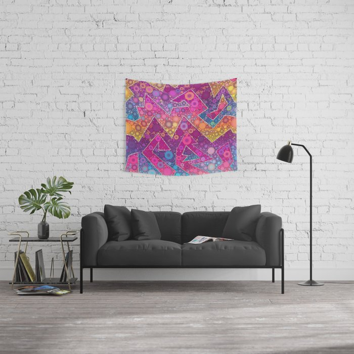 Rave Bubbles At Sunrise Wall Tapestry
