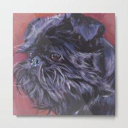Brussels Griffon belge dog art portrait from an original painting by L.A.Shepard Metal Print