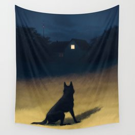 Night in the Hills Wall Tapestry