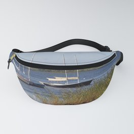 Sailboats moored in front of a natural beach.  Fanny Pack