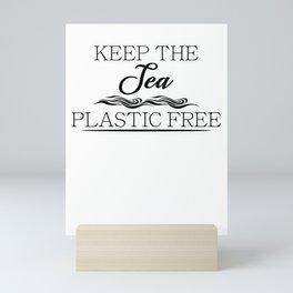 Keep The Sea Plastic Free Mini Art Print
