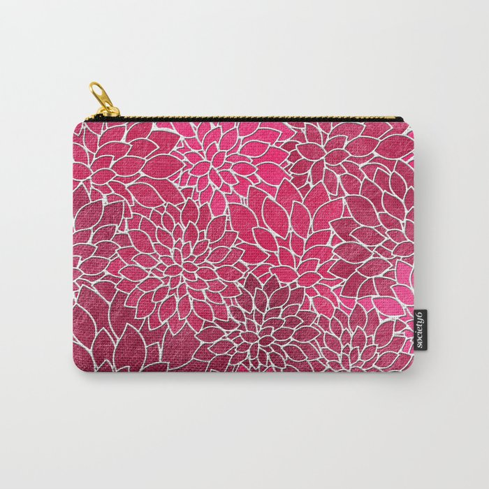 Floral Abstract 19 Carry-All Pouch