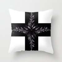 cross Throw Pillows featuring cross by Кaterina Кalinich
