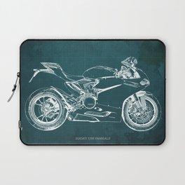 D Superbike 1299 Panigale 2015 green blueprint Laptop Sleeve