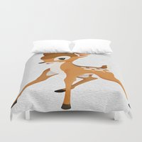 bambi Duvet Covers featuring Bambi by MandiMccl