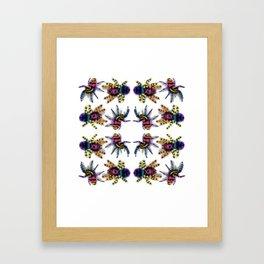 Rainbow jumping spiders Framed Art Print