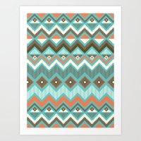 aztec Art Prints featuring Aztec by Priscila Peress
