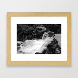 Dreamy falls Framed Art Print