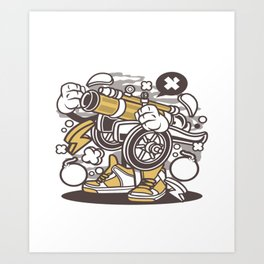 canon ballfor animated characters comics and pop culture lovers Art Print
