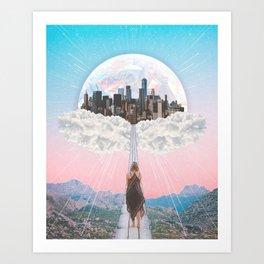 CITY OF PASTEL DREAMS III Art Print