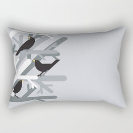 Three Blackbirds vector illustration Rectangular Pillow