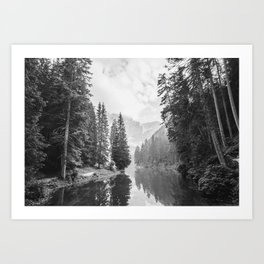 The Perfect View (Black and White) Art Print