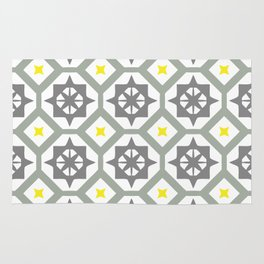 Carina - grey yellow Rug