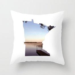Lake Minnesota Throw Pillow