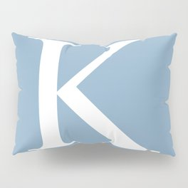 Letter K sign on placid blue background Pillow Sham