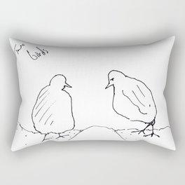 two pigeons Rectangular Pillow