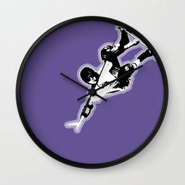 Skateboard Purple Haze Wall Clock