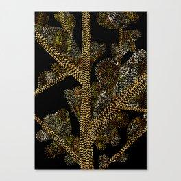 glowing golden swirly tree Canvas Print