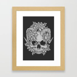 Japanese Skull Framed Art Print