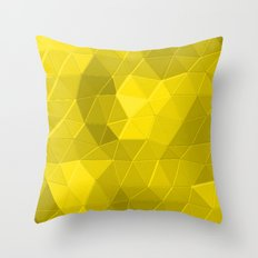 Kaleidoscope Series Yellow Throw Pillow