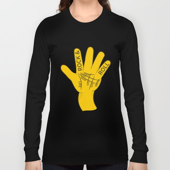 Palmistry Rock and Roll Long Sleeve T-shirt