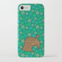 animal crossing iPhone & iPod Cases featuring Animal Crossing Summer Grass by Rebekhaart