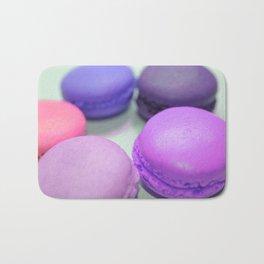 macaroons pink purple peach Bath Mat