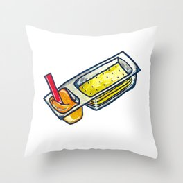 Cheese + Crackers Throw Pillow