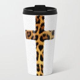 Fashion Leopard Pattern Cross Animal Print Travel Mug
