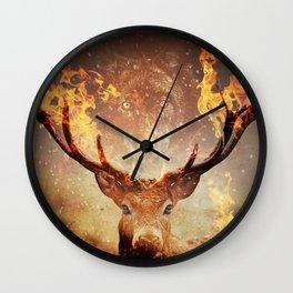 Internal flame Wall Clock