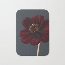 Chocolate Cosmos Flower Bath Mat