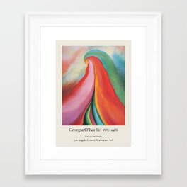 Georgia O'Keeffe - Exhibition poster for Los Angeles County Museum of Art, 1989 Framed Art Print