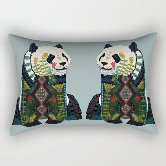 panda silver Rectangular Pillow