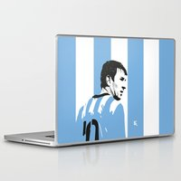 argentina Laptop & iPad Skins featuring Messi Argentina by lockerroom51