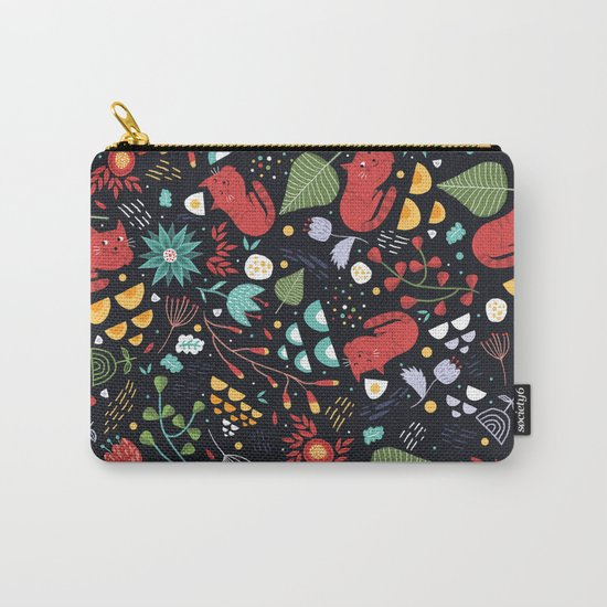 cats and flowers Carry-All Pouch