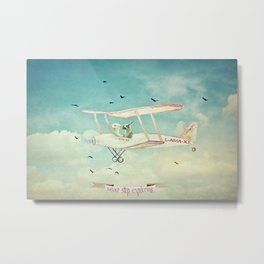Never Stop Exploring III - THE SKY Metal Print
