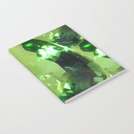 LIME GREEN PERIDOT GEMS AUGUST BIRTHSTONES Notebook